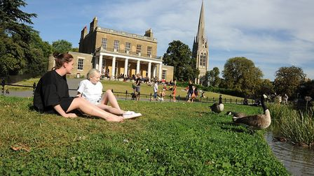 Relaxing in Clissold Park.