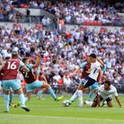Tottenham Hotspur's Dele Alli scores his side's first goal of the game against Burnley (pic: Adam Da