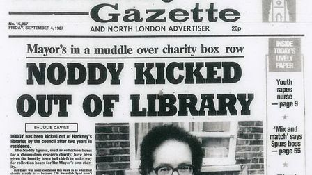 The Hackney Gazette this week in 1987. Picture: Hackney Archives