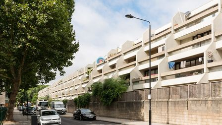 The Whittington Estate was designed by Peter Tabori in the mid-1970s