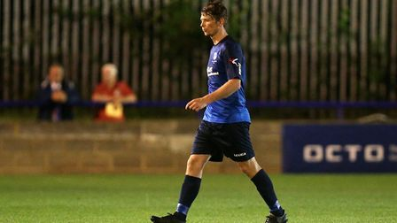 Sean Cronin was on target for Wingate & Finchley in their win at Staines (pic Gavin Ellis/TGS Photo)