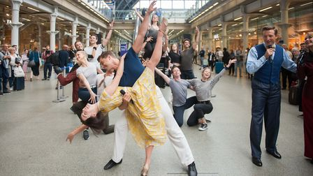 St Pancras International treats visitors to surprise performances of An American in Paris musical Pi