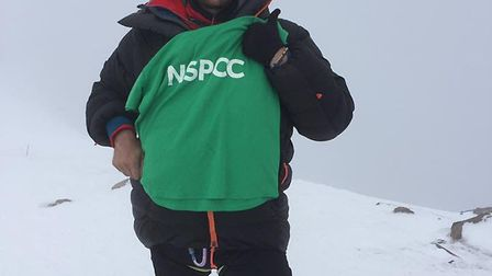 Pete Goodall is attempting to climb the seven summits in aid of the NSPCC Picture: 2andh