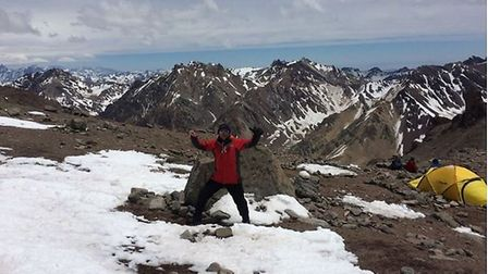 Pete Goodall on Aconcagua in Argentina Picture: 2andh