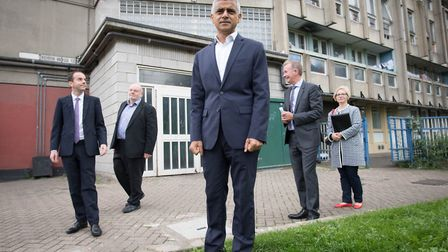 The Mayor of London, Sadiq Khan, announced his draft London Housing Strategy during a visit to the f