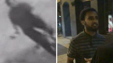 Police released the CCTV image on the left, but Micha says they were given the images on the right i
