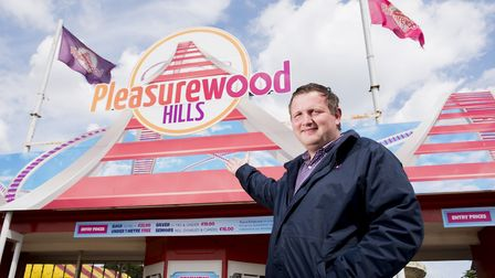 Adam Noble, general manager of Pleasurewood Hills theme park. Picture: Nick Butcher