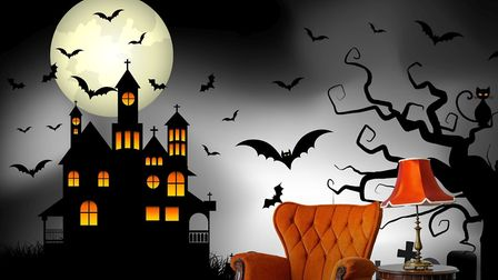Haunted House mural, from �29 per square metre, Pixers