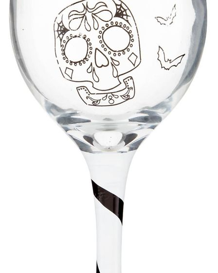 Day of the Dead wine glass, �1, Poundland