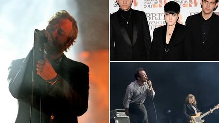 The National (L), The xx (top right) and Future Islands are among the bands billed for All Points Ea