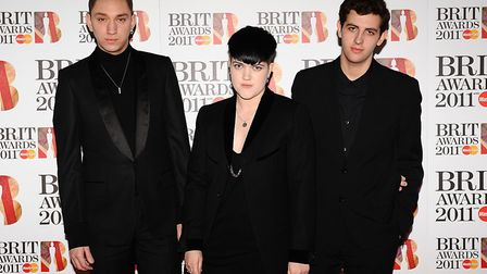 The xx pictured at the Brit Awards 2011. Picture: Ian West/PA Wire