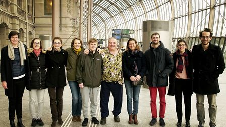 Mr Lines was joined in Brussels and Strasbourg by fellow campaigners from Belgium and France who als