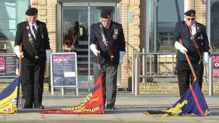 Members of the Lowestoft branch of the Royal British Legion, the Royal Engineers Association and the