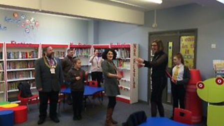 The library re-opening at Phoenix St Peter Academy in Lowestoft. Pictures: Courtesy of Phoenix St Pe