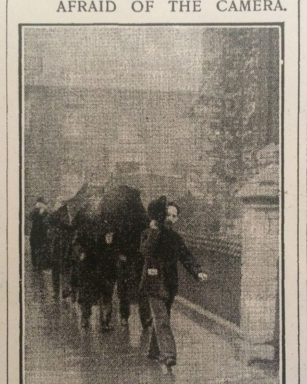 The Daily Mirror spots some of the revolutionaries as they enter the Brotherhood Church in Southgate