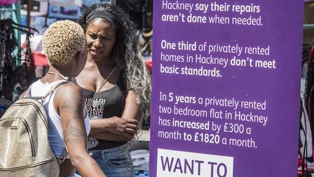 The cost of private renting was one of the topics of Hackney Council's Better Renting campaign, laun