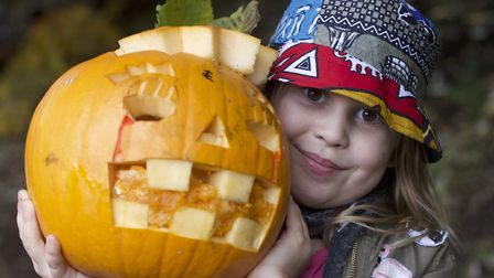 Pumpkin carving at Dalston Eastern Curve Garden on Sunday. Pictures: Alex Bogdan, Sandra Keating and