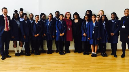 Hackney North and Stoke Newington MP Diane Abbott joined in the black history month celebrations at