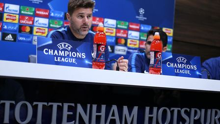Tottenham Hotspur manager Mauricio Pochettino speaks to the press (pic: Steven Paston/PA Images).