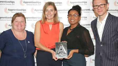 Jessica Ansell, second left, a design engineer at Blue Engineering who heads up the apprenticeship p