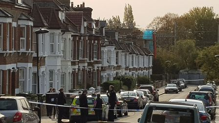 The scene today remains cordoned off Picture: Sophie Penney