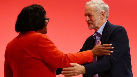 Hackney North and Stoke Newington MP Diane Abbott, pictured with Islington North MP Jeremy Corbyn du