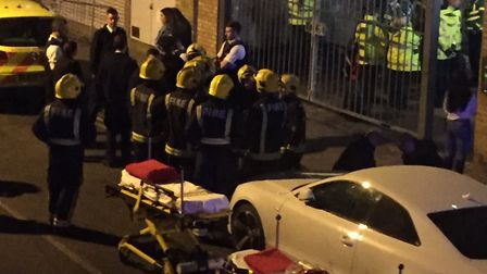 Mangle E8 is evacuated after the acid attack. Picture: Phie McKenzie/@PhieMcKenzie