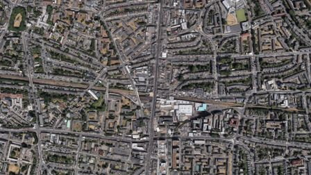 An aerial photo of Dalston and the surrounding area. House prices per square metre have more than do