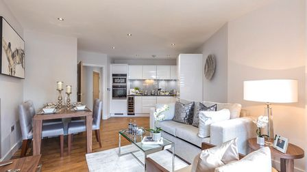 Internal image of one of the show apartments at Thirty2