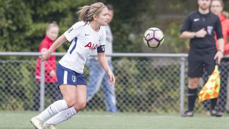 Tottenham Hotspur Ladies captain Jenna Schillaci in action at Durham Women