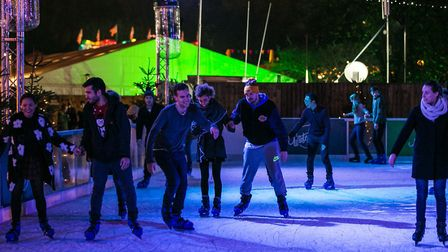 Crowds ice skating at Winterville in 2015 when it was held in Victoria Park