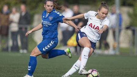 Josie Green in action for Tottenham Hotspur Ladies at Durham