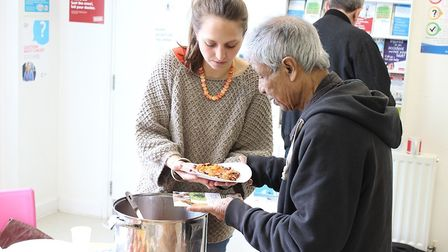 Food is served at an open day event at the Greenhouse. Picture: AT Medics
