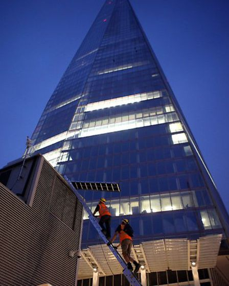 Victoria climbed the Shard in 2012. Picture: David Sandison/ Greenpeace