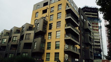 Burbage House cladding still needs to be replaced. Picture: EMMA BARTHOLOMEW