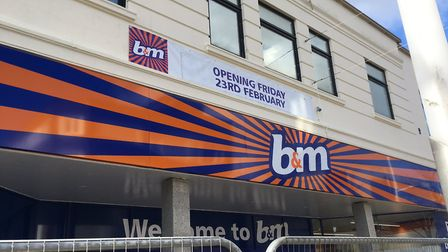 B&M will open in Lowestoft town centre at the end of next week. Photo: James Carr.