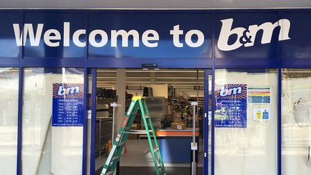 Work is still under way to get the former BHS unit ready for the opening. Photo James Carr.