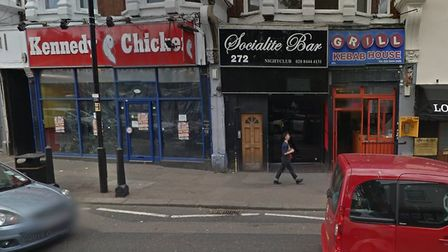 The Socialite Bar, where two men were attacked by Moore in January. Picture: GOOGLE