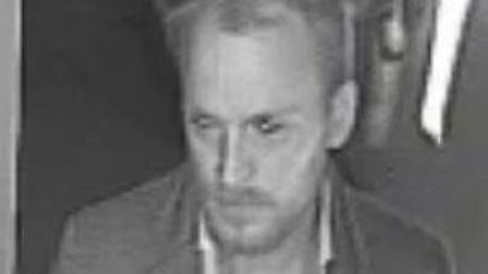 Police want to speak to this man after the attack at The Three Crowns. Picture: Met