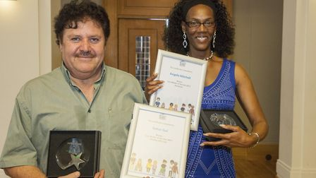 Care worker winners, Sahar Gul and Angela Mitchell. Picture: Hackney Council