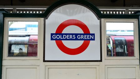 Golders Green tube station closed this afternoon following reports of a suspicious item. Picture: AR