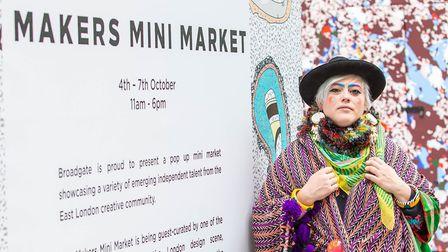 Bethan Laura Woodis hosting a Makers Mini Market. Picture: Jeff Moore