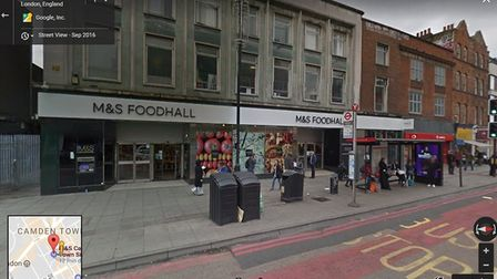 M&S are exclusively trialling their food delivery service in Camden Picture: Google Street View
