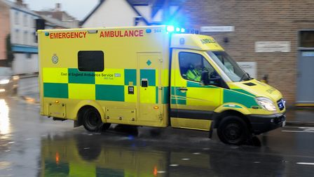 Stock photo of an ambulance. Picture: SIMON PARKER