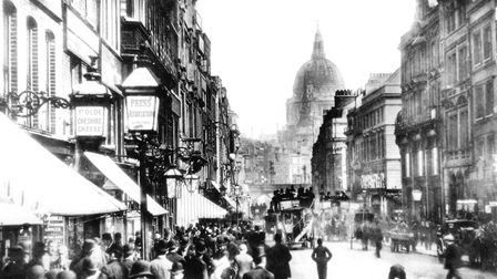 Fleet Street, the home of the British newspaper industry, in the 1890s. It was here, decades earlier
