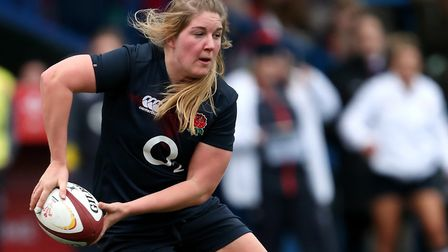 England's Poppy Cleall scored two tries for Saracens against Loughborough (pic David Davies/PA)