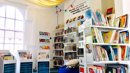 The refurbished library at Grasmere Primary School.