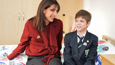 Samantha Cameron and Alonso, from Muswell Hill, attend the Noah's Ark Children's Hospice event as co