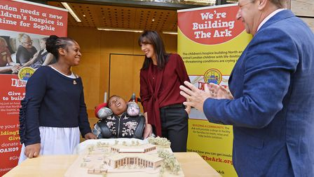 Denise, Kye, Samantha Cameron and chief executive Noah's Ark, Ru Watkins. Picture: Jeff Spicer/Gett