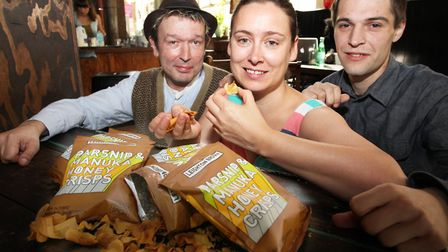 Three foodie friends (L-R) Dominic Donnelly, Cara Leighton, and Chris Wilkowski created Leighton Bro